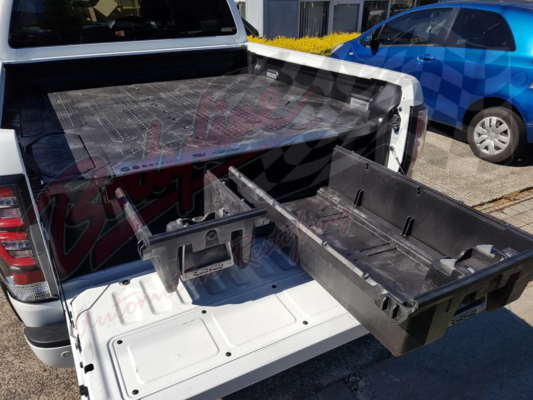 Ford Ranger Dual Cab 2012on Decked Truck Bed Storage