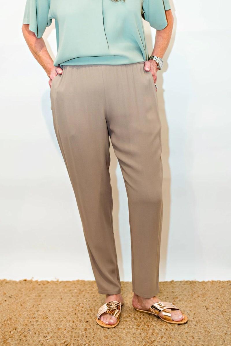 0a9cc1f200e23 Grande Eileen Fisher Black Ankle Zip Skinny Pants Size 12 L 32 33 ...