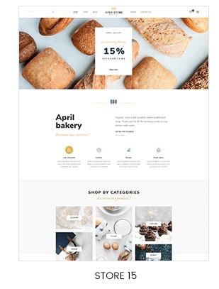 Shopify bakery shop