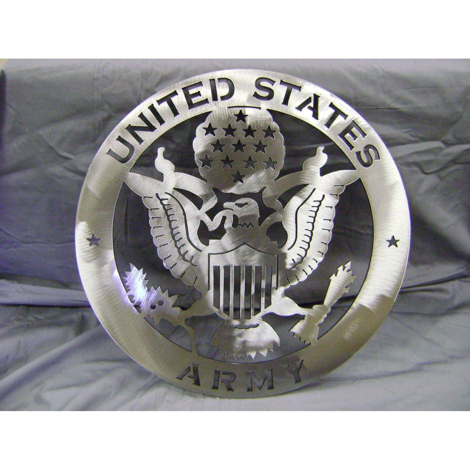 United States Army Emblem Military Sign Stainless Steel Metal Wall Cascade Manufacturing
