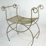 Vintage Metal Vanity Chair Hollywood Regency Shop Uniques Unlimited