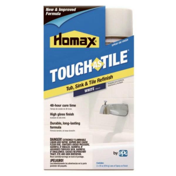 homax 3157 tough as tile tub tile epoxy finish aerosol white 16 oz toolboxsupply com