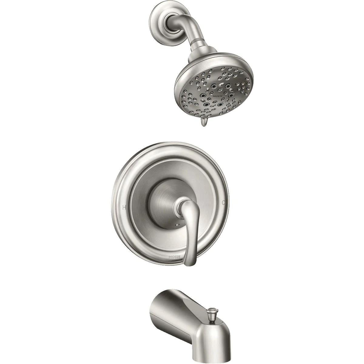 Moen 82876srn Tiffin One Handle Posi Temp Tub Shower Faucet Brushed