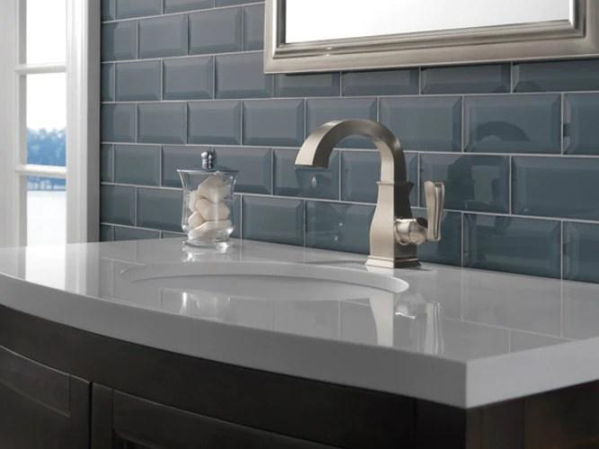 delta 15718lf sp lakewood high arc 1 handle bathroom faucet brushed n