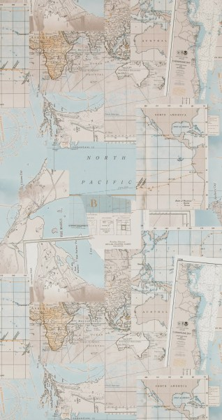 Washed Layer Taupe Pacific Map Wallpaper R4321     Walls Republic US Washed Layer Taupe Pacific Map Wallpaper R4321