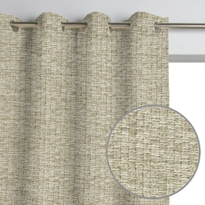 smithsonian museum luxury woven heavyweight tweed burlap boucle textured webster curtain panel
