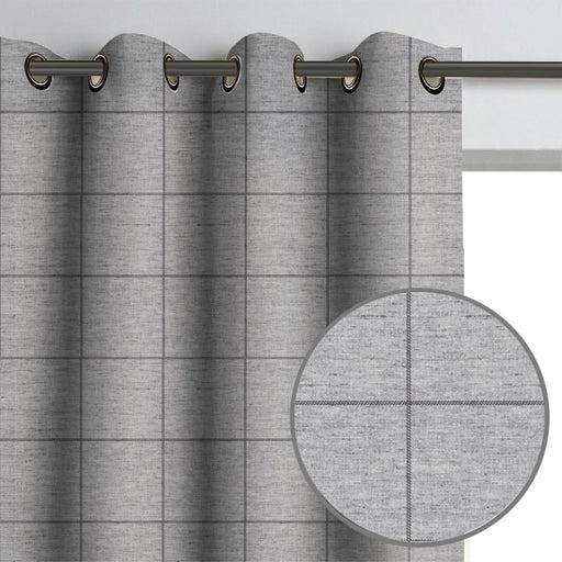 maurice plaid drapery panel check gingham tartan plaid