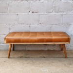 Bench Seat Leather Padded Exotiq Homewares