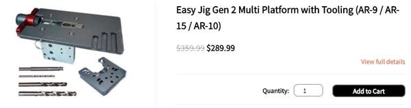 Easy Jig Gen 2 Multi Platform (AR 9 / AR-15 / AR-10)