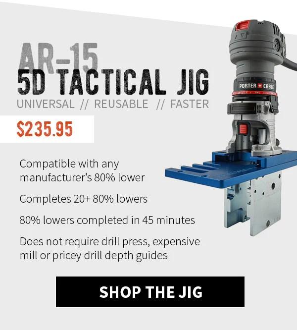 AR-15 5D Tactical (80% Lower Jig)