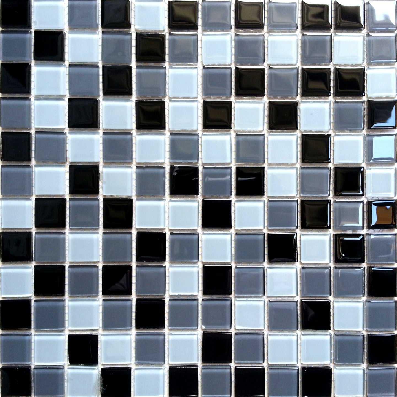 black blue grey white glass mosaic tiles mt0013