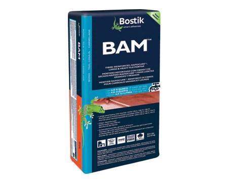 bostik bam fiber reinforced rapid cure large heavy tile mortar white 50 lb