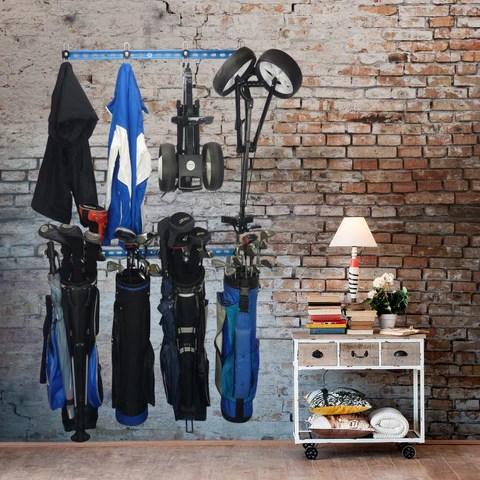 golf equipment wall storage golf bag wall storage golf club wall storage