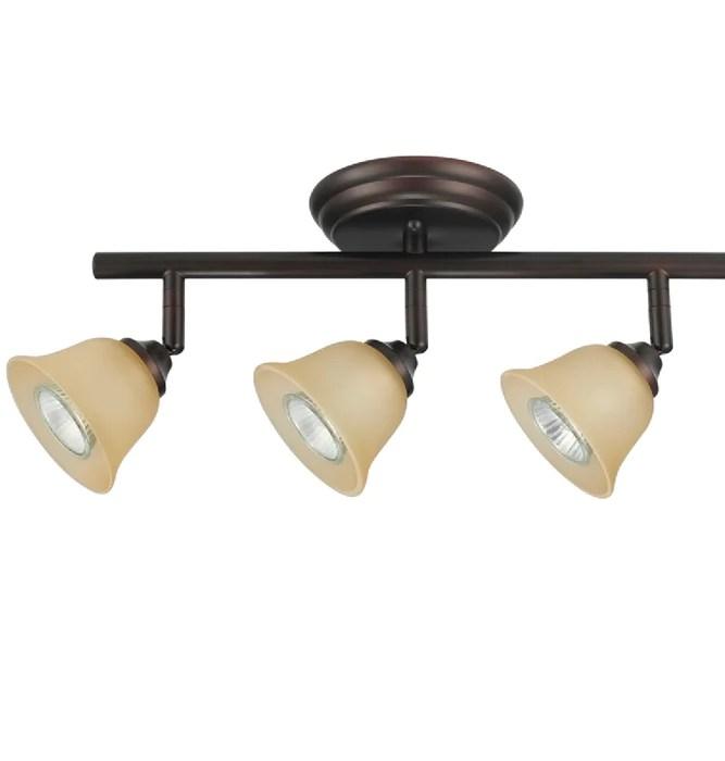 globe electric 58922 knox 3 light track lighting kit crimson coffee finish