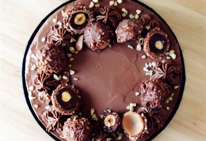 Premium Ferrero Rocher Hazelnuts Chocolate Cake Homemade Cake