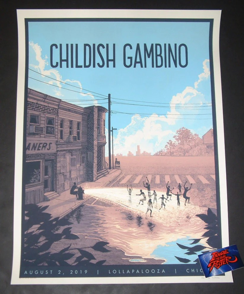 justin santora childish gambino chicago poster lollapalooza artist edition 2019
