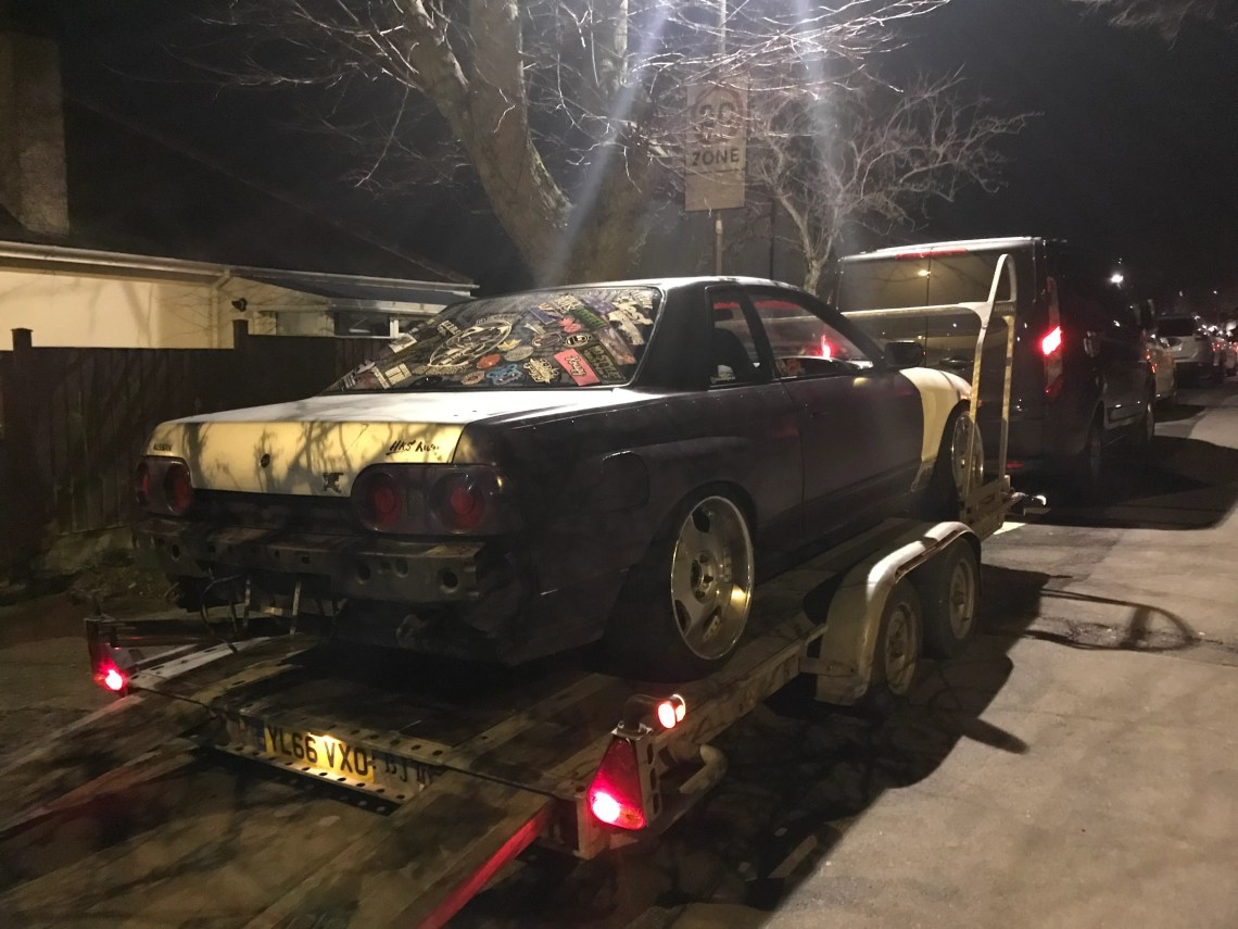 Skyline loaded on to the trailer