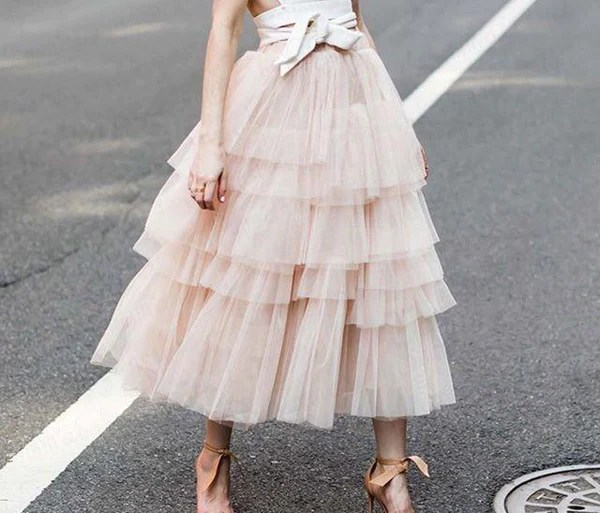 Ruby - Ultra Layered High Waist Tulle Skirt