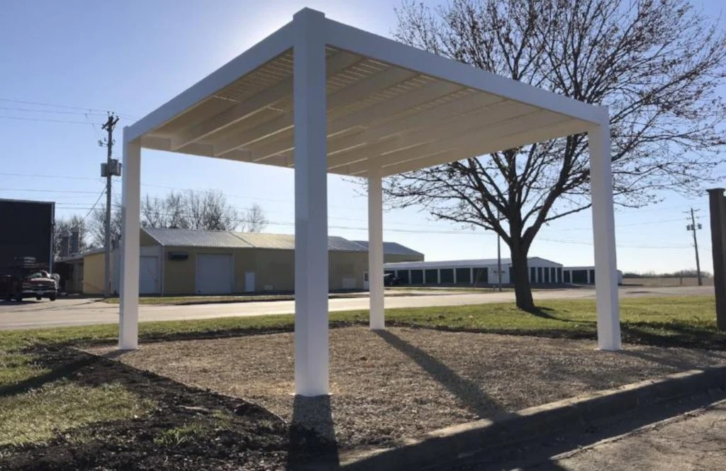 Peaceful Patios Freestanding Contemporary Vinyl Pergola