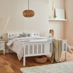 Lisa Wooden Double Bed Frame White Laura James