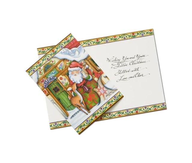 Santa Holiday Card Set Of