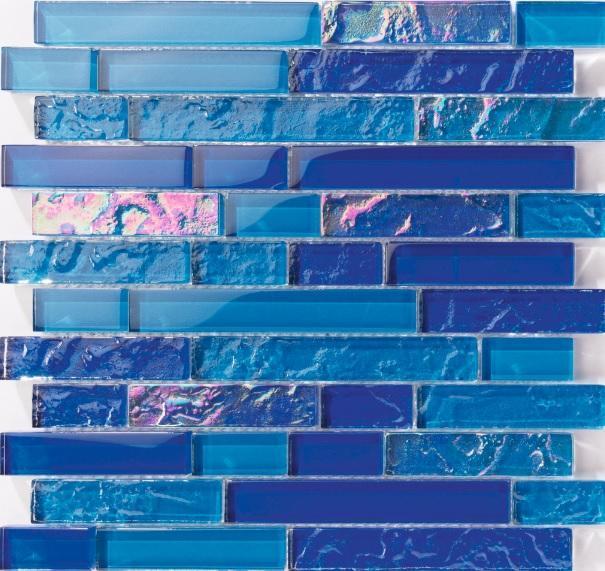 bahamas dark blue linear pool tile