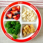 Myplate Divided Kids Plate Portion Control Product Health Beet