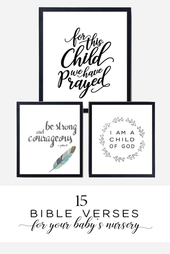 15 Bible Verses For Your Babys Nursery Chickadee Art