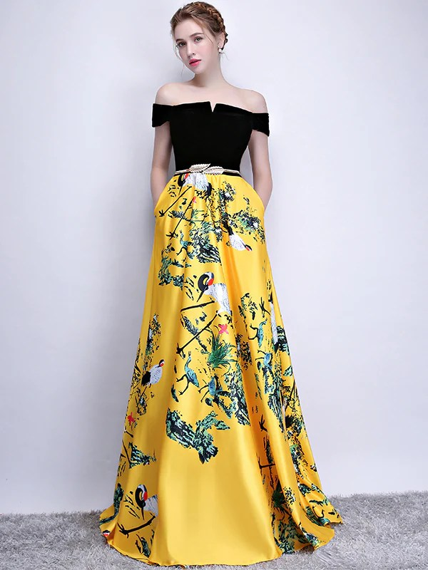 365b760001d Long Prom Dress Modest Elegant African Simple A Line Prom Dress