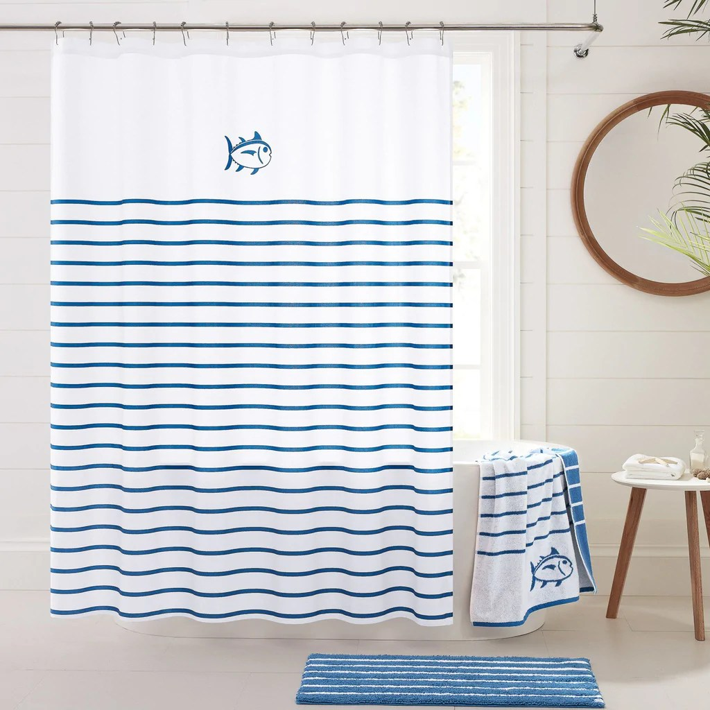 breton shower curtain southern tide