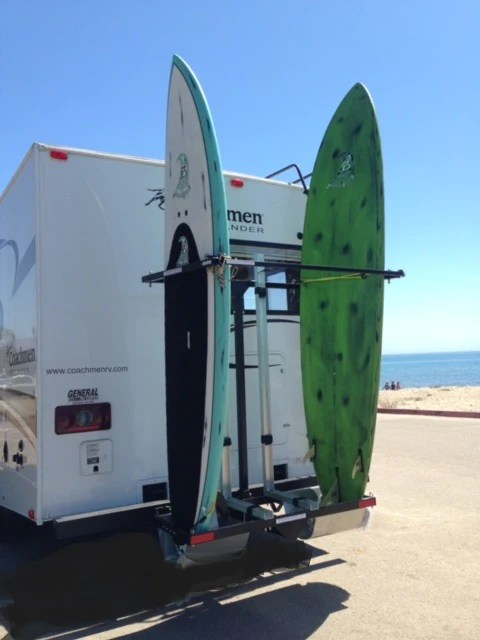kr2b56s rv vertical racks for surfboards up to four kayaks or boards