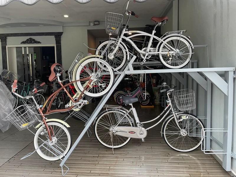 universal bike parking rack double tier 2 x 5 bikes preorder