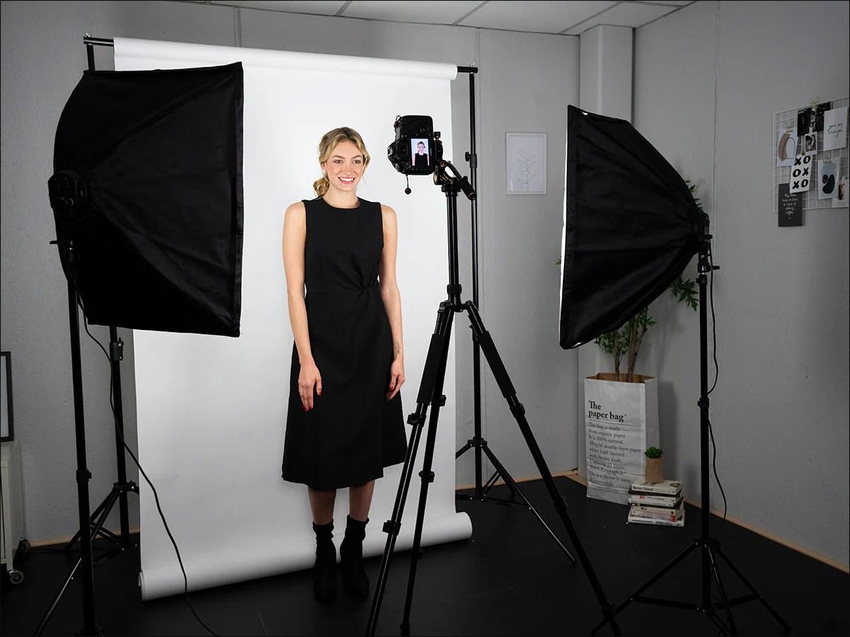 professional softbox studio lighting kit