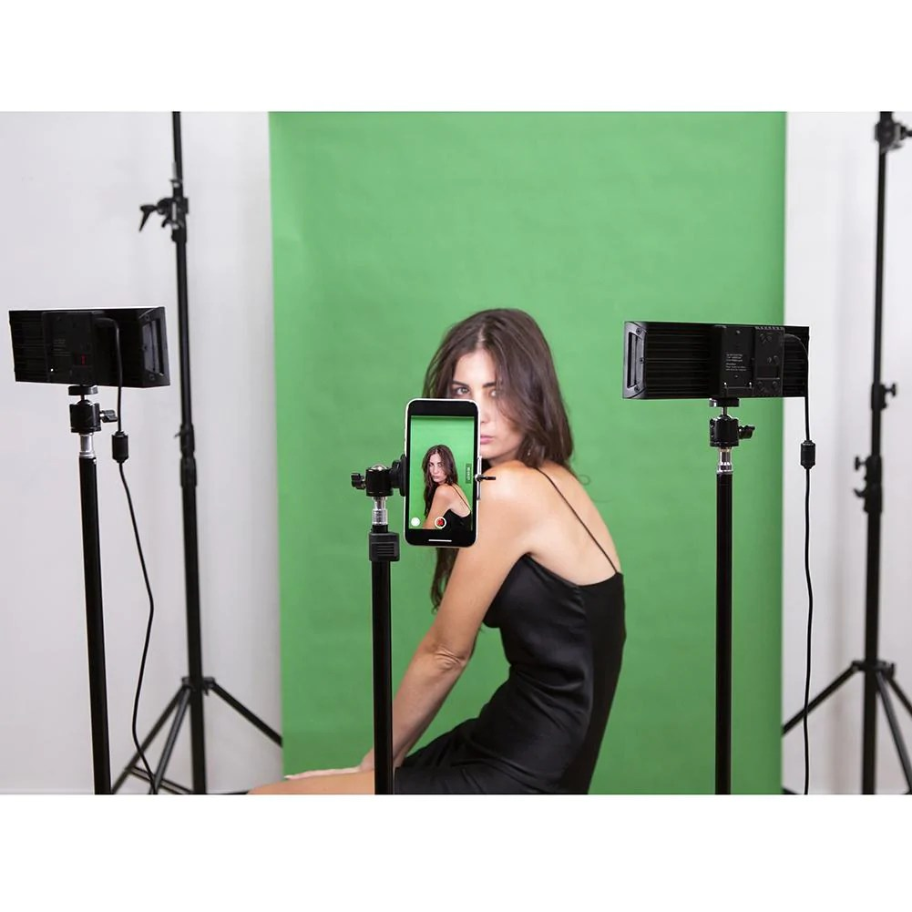 9 led photography video studio lighting kit 2x duo crystal luxe no battery and charger