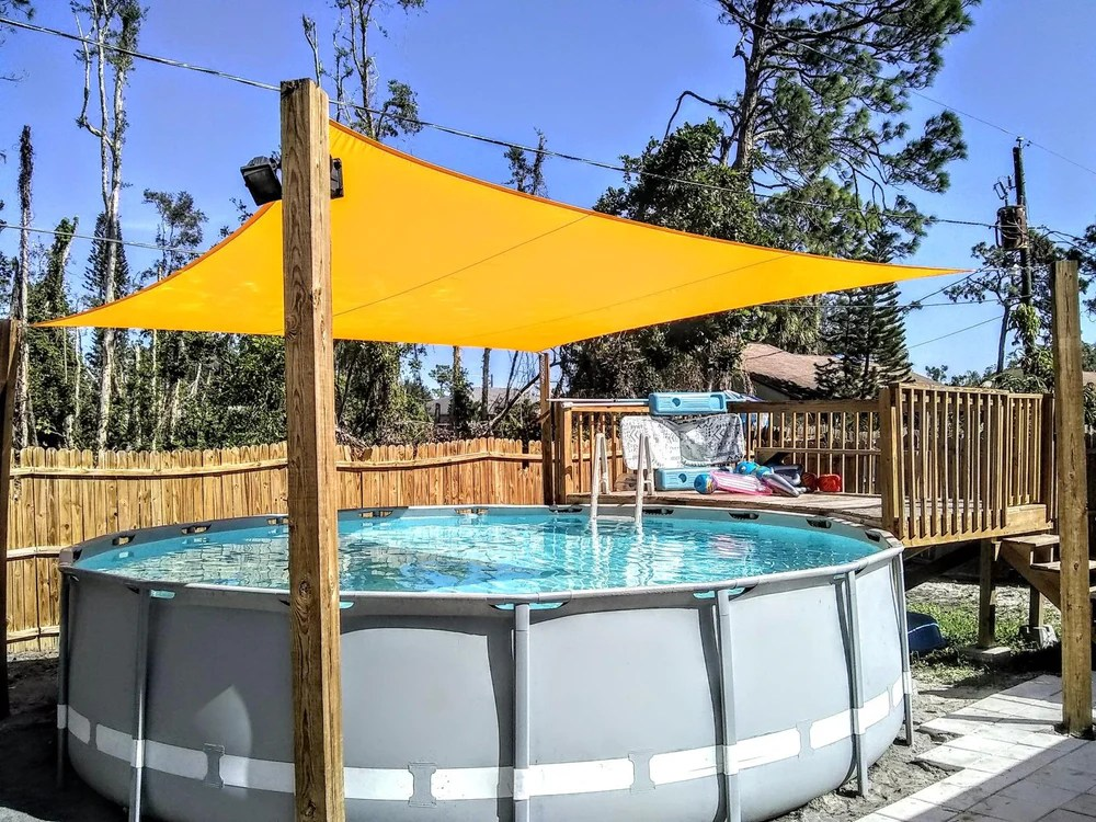 That's a huge part of the allure of a swimming pool. Fence Privacy Screens Sun Shade Sails Custom Sizes Wholesale Price Colourtree