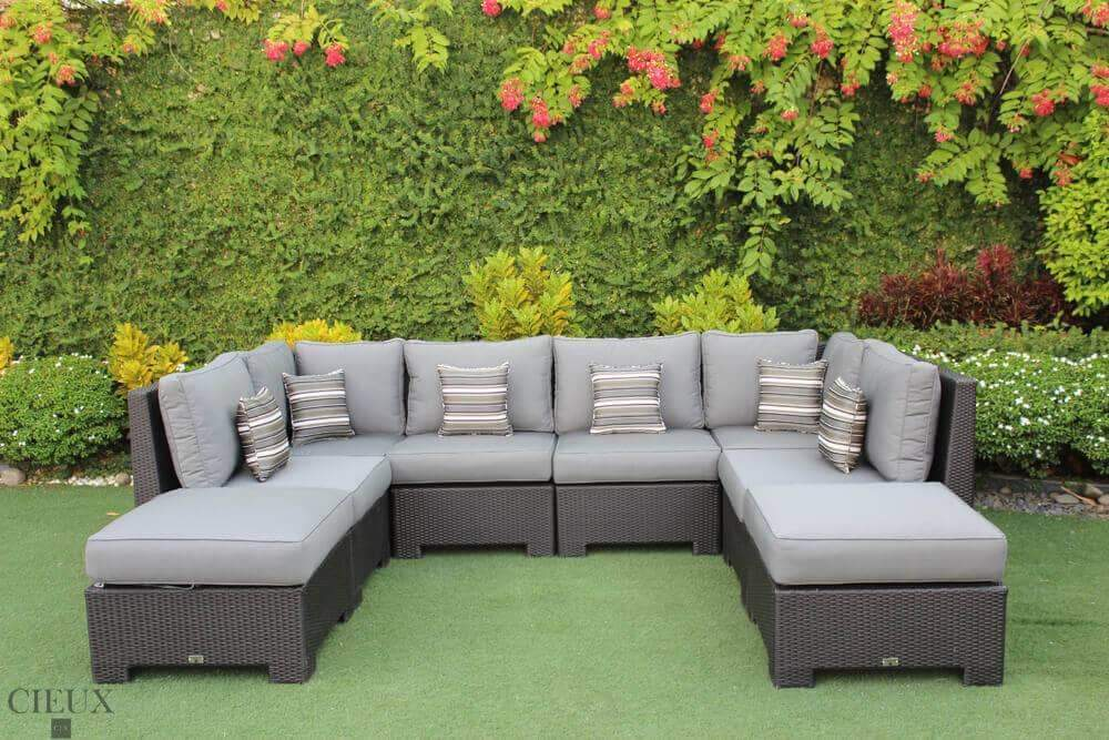 provence large u shaped sectional available in 3 colours