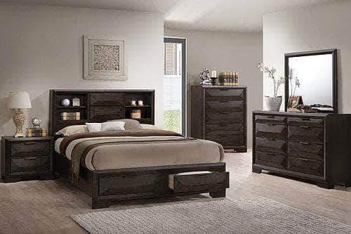 laura 5 piece bedroom set with storage
