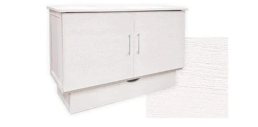 madrid murphy cabinet bed in brushed white