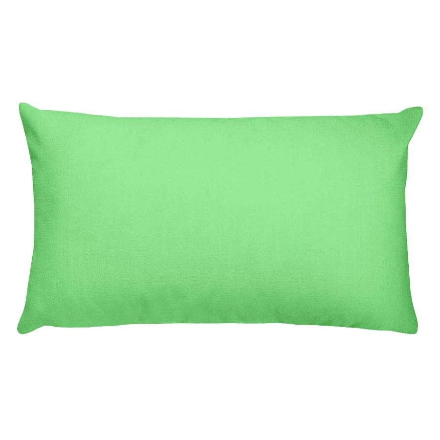 light green rectangular pillow