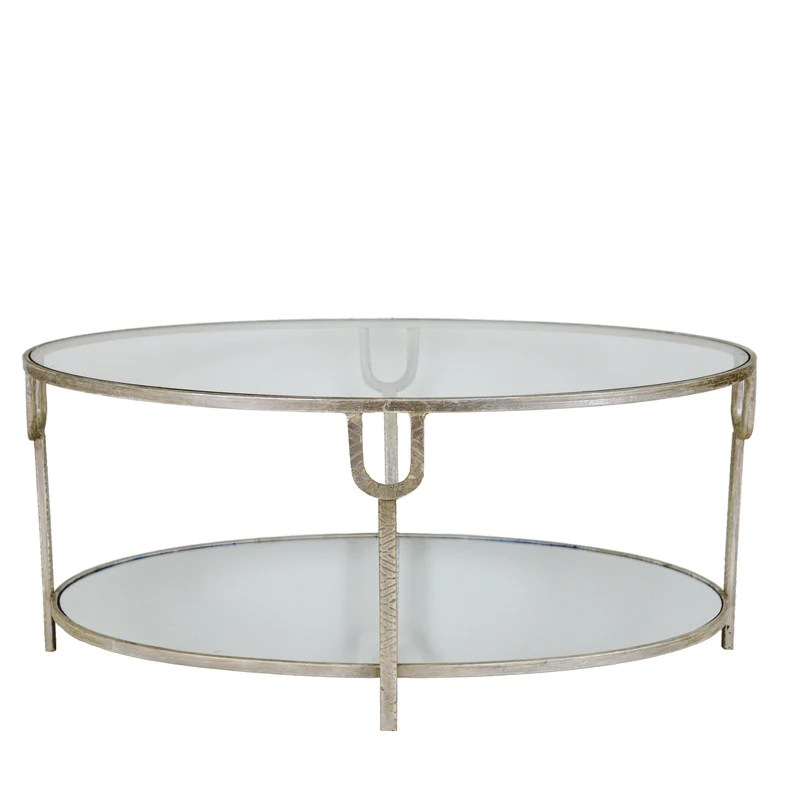 blanca silver oval coffee table