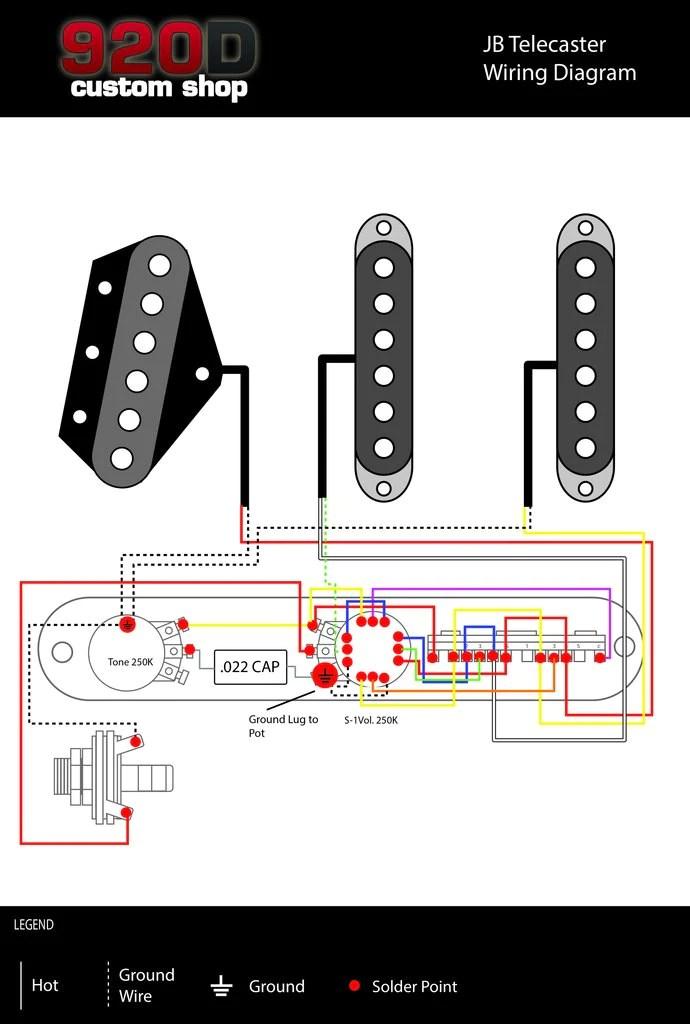 Diagrams  James Burton 5 Way – 920D Custom