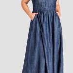 Standards Practices Nimah Denim Dress Coverstorynyc