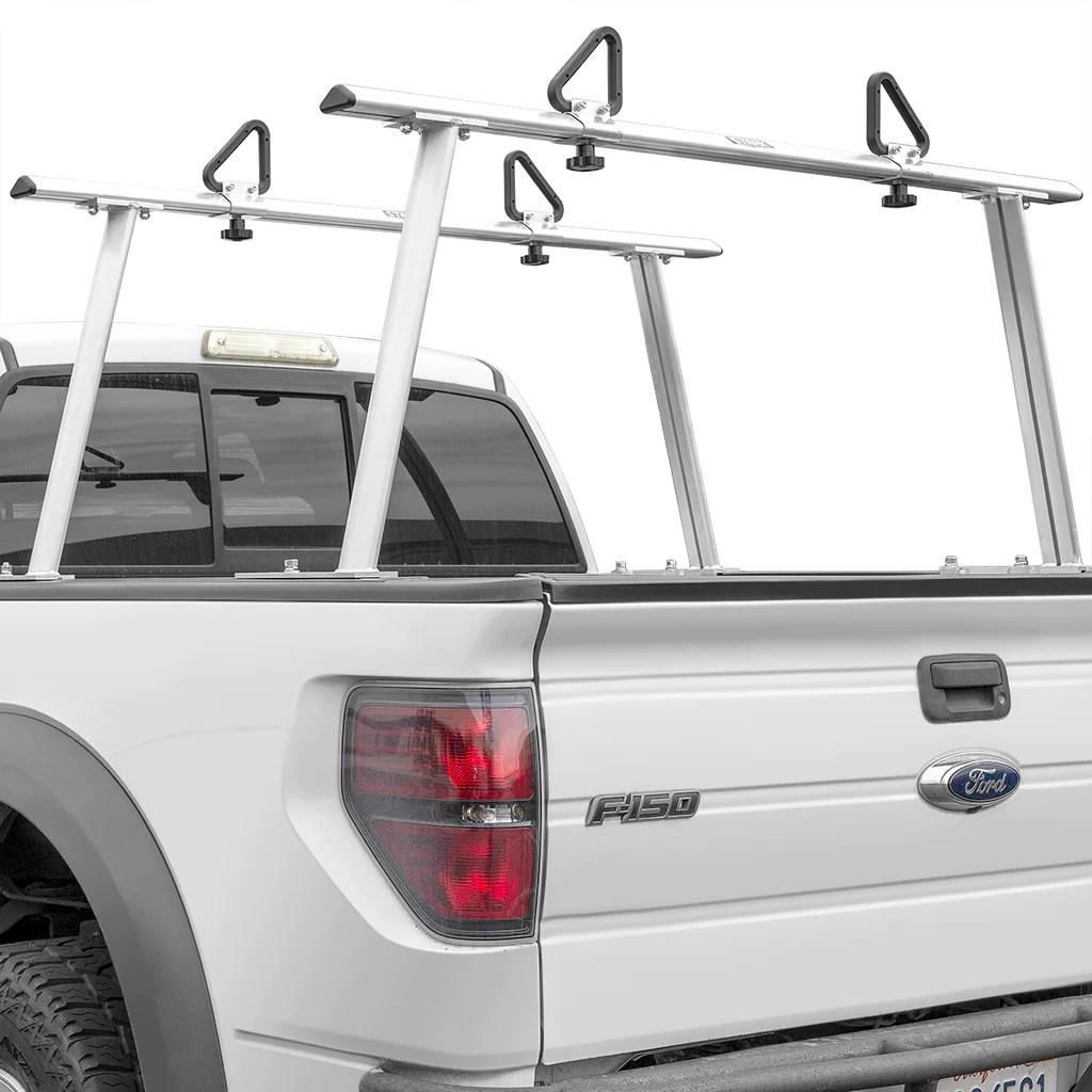 adjustable aluminum pickup truck ladder racks 1 000lbs universal lumber utility
