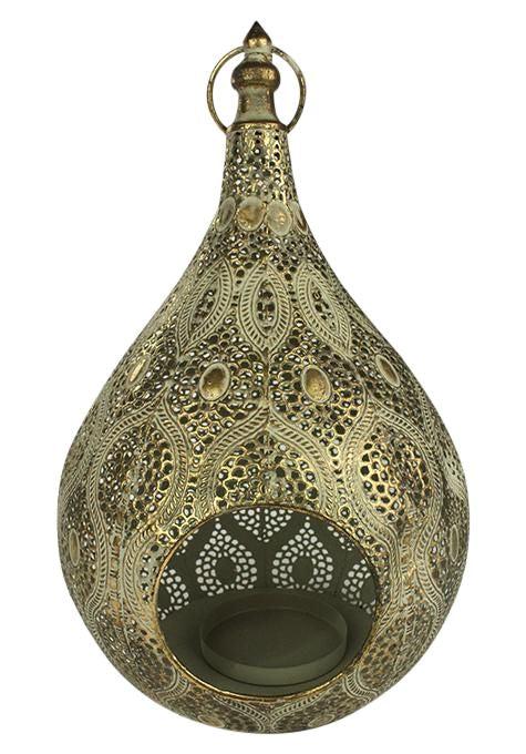 Brass Drop Lantern Candle Holders Ishka