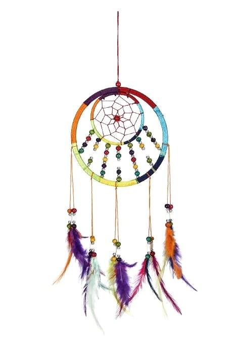 Multicoloured Beads Dream Catcher Gifts ISHKA