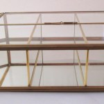 Vintage Glass Brass Curio Cabinet Display Case With Doors Small Glass Late Boomer Vintage