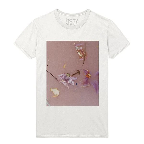 Strped Blue Pink Flowers Shirt Harry Styles