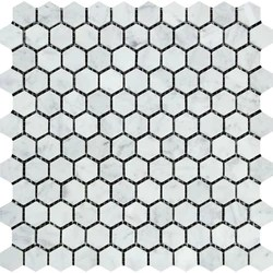 carrara white marble tile 1 inch hexagon mosaic marble from italy