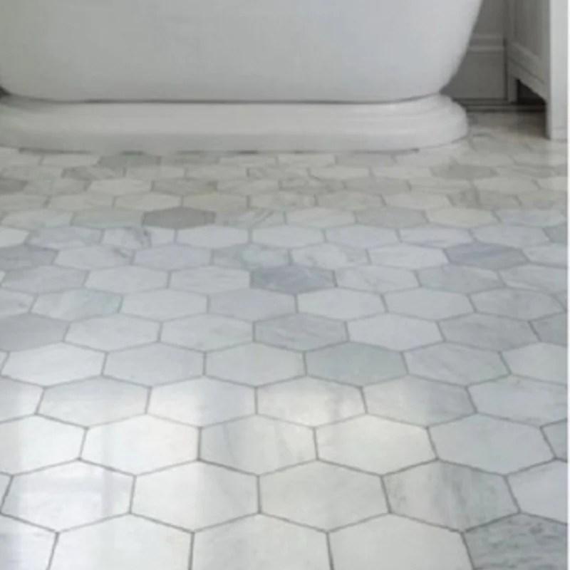 white carrara marble tile 3 hexagon