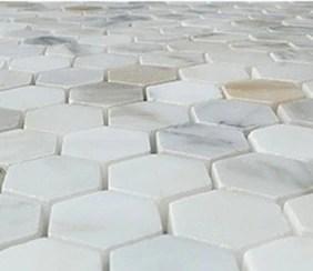 calacatta gold calcutta italian marble 2 inch hexagon mosaic tile sample